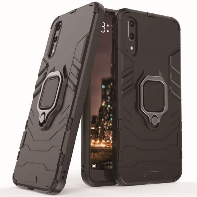 Huawei P30 Panther Ring Cover - Black