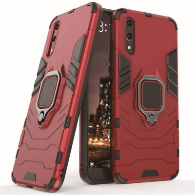 Huawei P30 Panther Ring Cover - Red