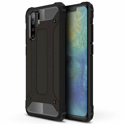 Huawei P30 Pro Case - Black Luxury Armour