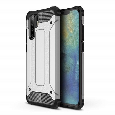 Huawei P30 Pro Case - Silver Luxury Armour