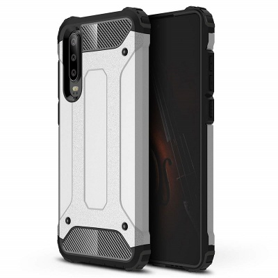 Huawei P30 Luxury Armour Silver case