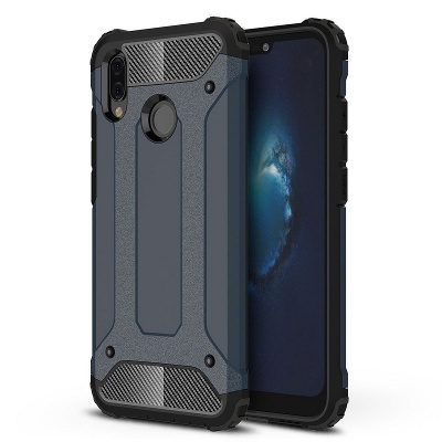 Huawei P Smart 2019 Dual Layer Hybrid Soft TPU Shock-absorbing Protective Cover Black