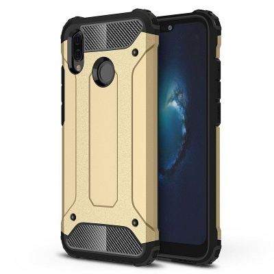 Huawei P Smart 2019 Dual Layer Hybrid Soft TPU Shock-absorbing Protective Cover Gold