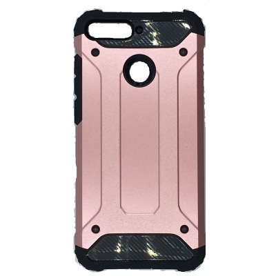 Huawei Y6(2018) Dual Layer Hybrid Soft TPU Shock-absorbing Protective Cover RoseGold