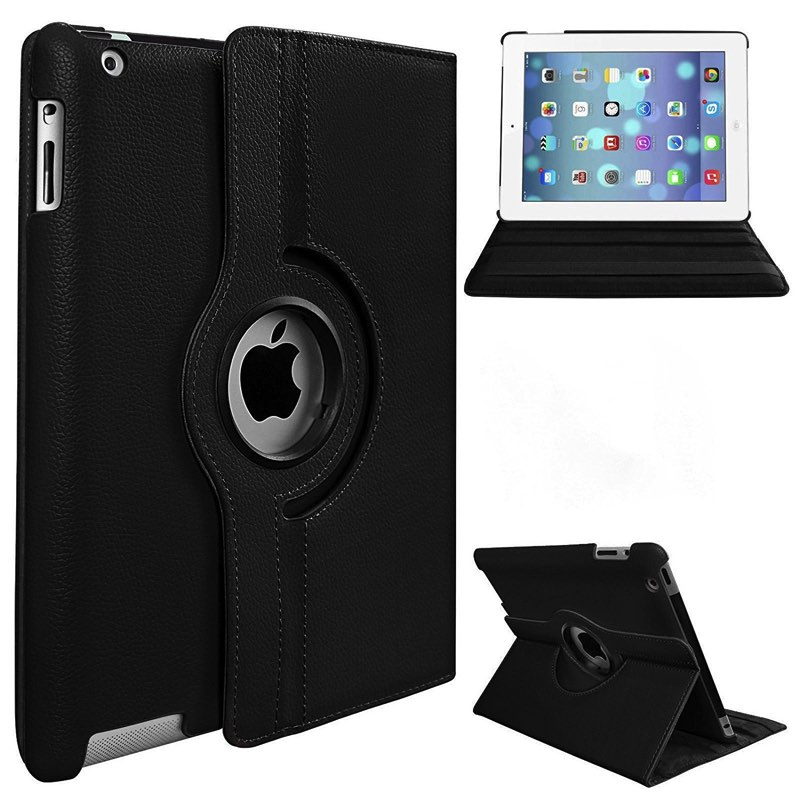 iPad Air-2-360 Rotating Case Black