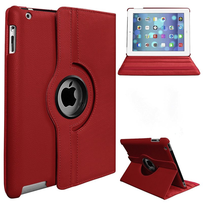 iPad Air-2-360 Rotating Case Red