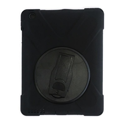 iPad 2/3/4  Three Layer Heavy Duty Shockproof Protective with Kickstand Bumper Case Black