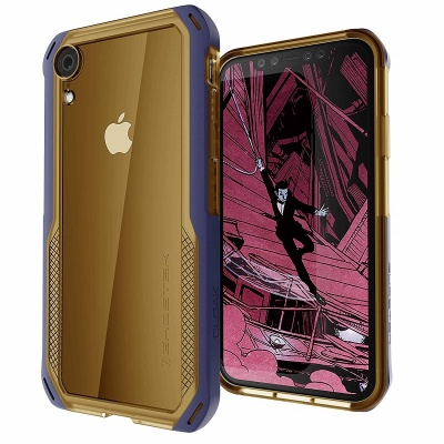 iPhone XR Case Ghostek Cloak 4 Series - Gold / Blue