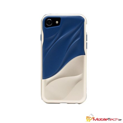 iPhone 7 / iPhone 8 Case Water Ripple Cover Blue/Gold