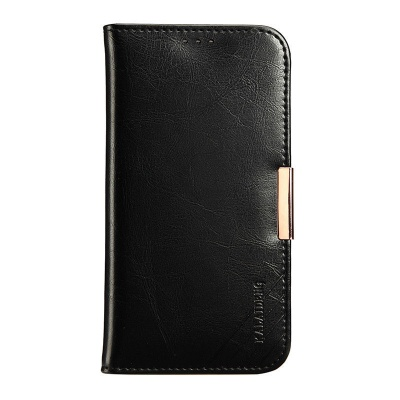 iPhone 7 / iPhone 8 Case Genuine Leather Wallet- Black