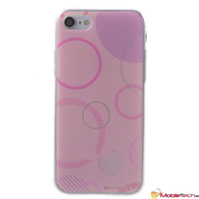 iPhone SE(2nd Gen) and iPhone 7/8 Case Goospery Da Vinci Jelly Pink