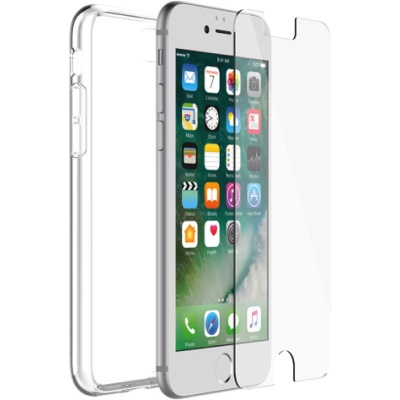 iPhone 7 / iPhone 8 OtterBox Clear Protected Skin Case + Alpha Glass