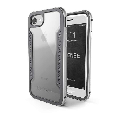 iPhone 7 / iPhone 8 Case X-Doria Defence Shield- Silver