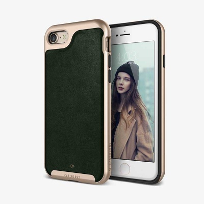 iPhone 7/8 Caseology Envoy Series Case - Leather Green