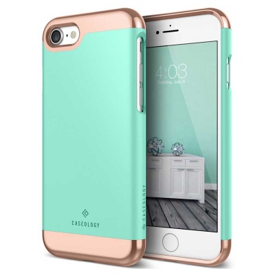 iPhone SE (2nd Gen) and iPhone 7 / iPhone 8 Case Caseology Savoy Series- Mint