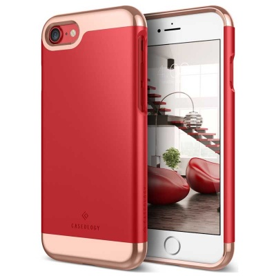 iPhone 7 / iPhone 8 Case Caseology Savoy Series- Red