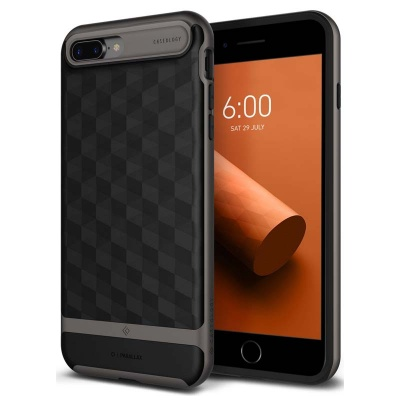 iPhone 7/8 Plus   Parallax Series Case - Black / Warm Gray