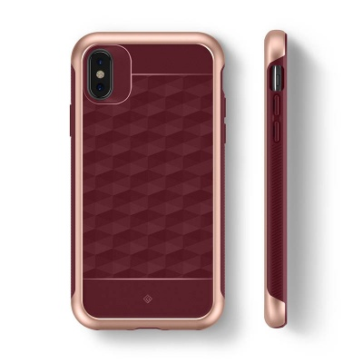 iPhone X Case Caseology Parallax Case Burgundy