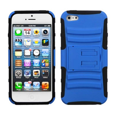 iPhone SE/5S/5 MyBat ASMYNA Dark Blue/Black Advanced Armor Stand Protector Cover