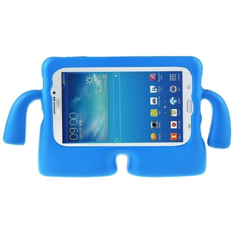Samsung Tab A T580 Case for Kids Rubber Shock Proof Cover with Carry Handle Blue