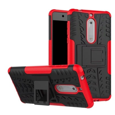 Nokia 5 Tyre Defender Cover Red