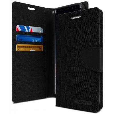 Samsung Galaxy Note 8 Canvas Wallet Case  Black