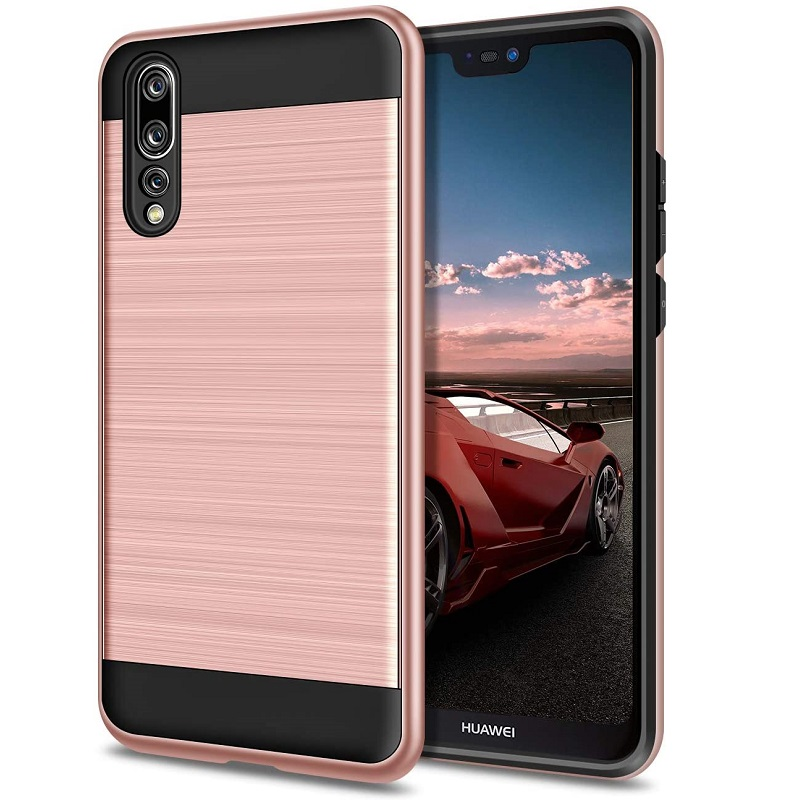 Huawei P20 Pro Shockproof Dual Layered Back Case Rosegold