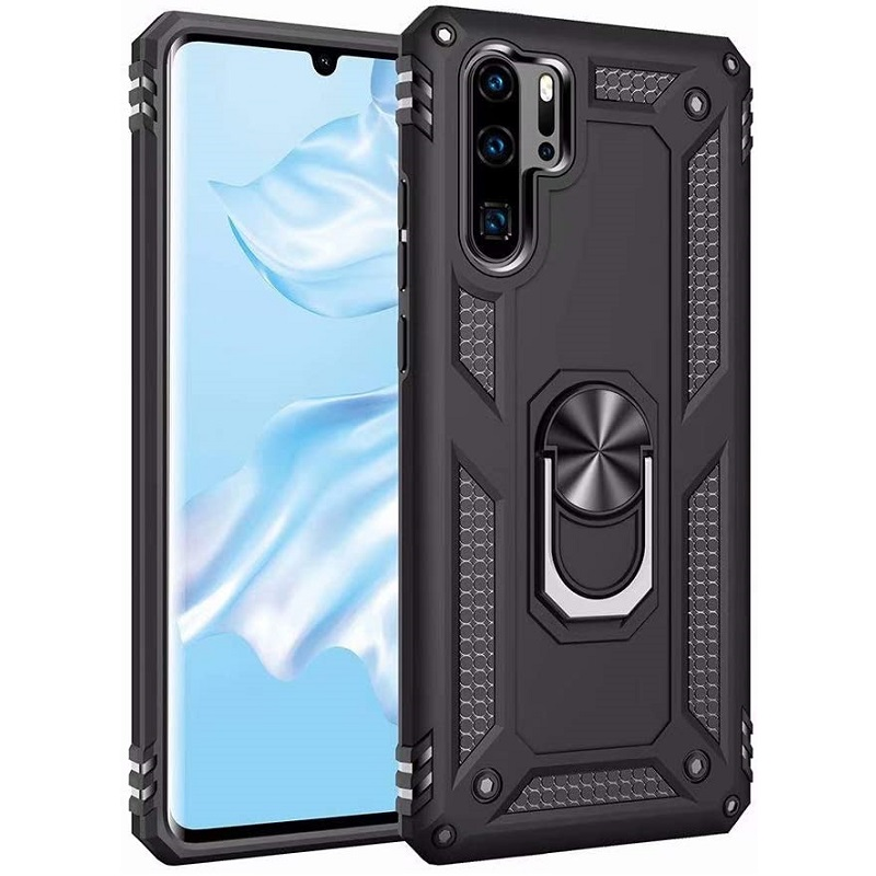 Huawei P30 Pro Case - Black Ring Armour