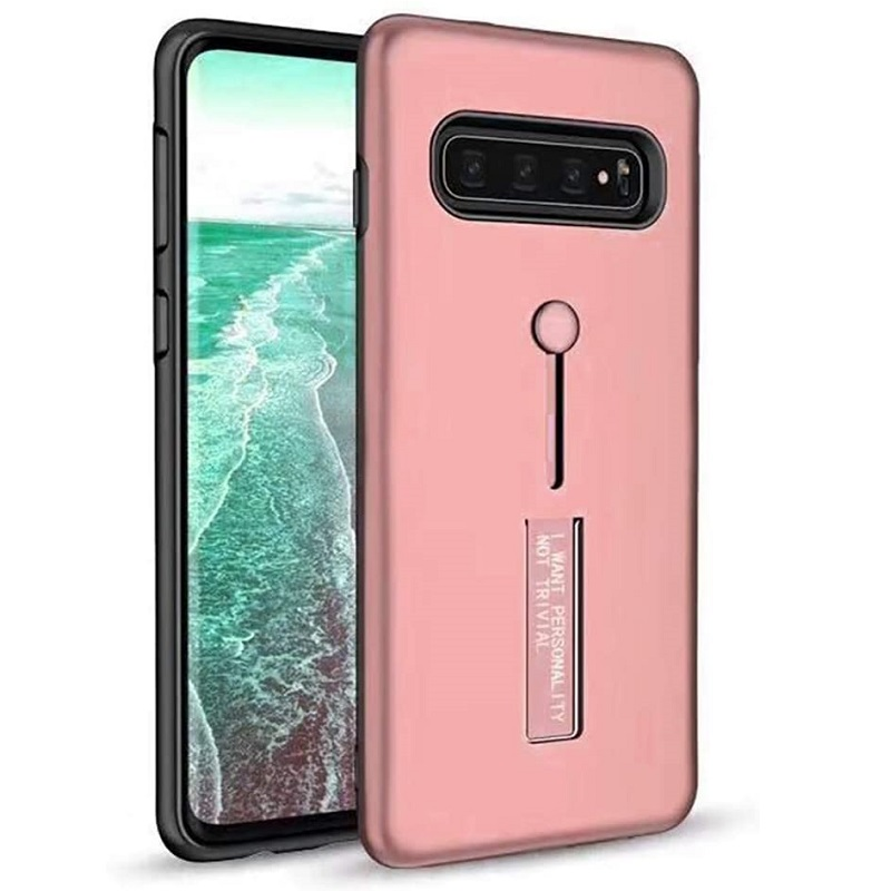 Samsung Galaxy S10e  Kickstand Shockproof Cover Rosegold