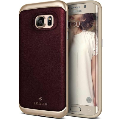 Samsung Galaxy S7 Edge Caseology Envoy Series Cherry Oak
