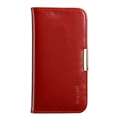 Samsung Galaxy S8 Genuine Leather Wallet Case WineRed