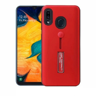 Samsung Galaxy A20e Kickstand Shockproof Cover Red