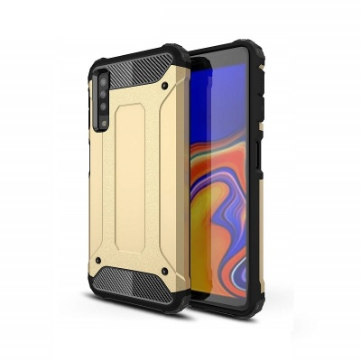 Samsung Galaxy A7(2018) Dual Layer Hybrid Soft TPU Shock-absorbing Protective Cover Gold