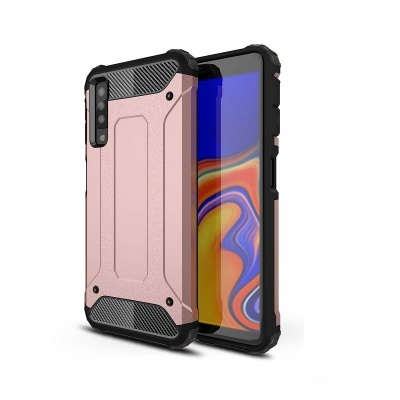 Samsung Galaxy A7(2018) Dual Layer Hybrid Soft TPU Shock-absorbing Protective Cover RoseGold