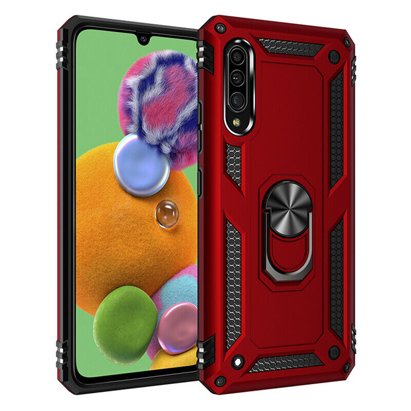 Samsung Galaxy A90 5G Case - Red Ring Armor