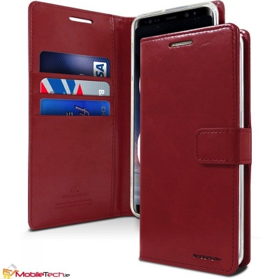 Samsung Galaxy A8(2018) Goospery Bluemoon Diary Case Wine Red