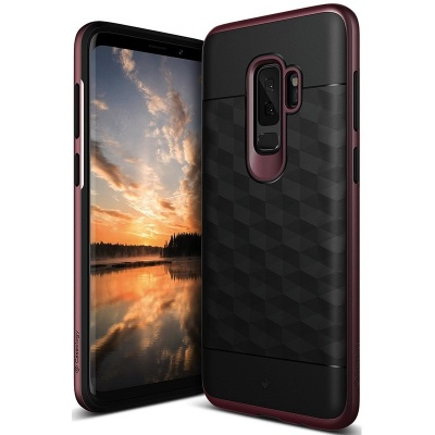 Samsung Galaxy S9 Plus Caseology Parallax Cover Burgundy Black