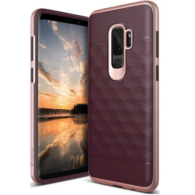Samsung Galaxy S9 Plus Caseology Parallax Cover Burgundy RoseGold