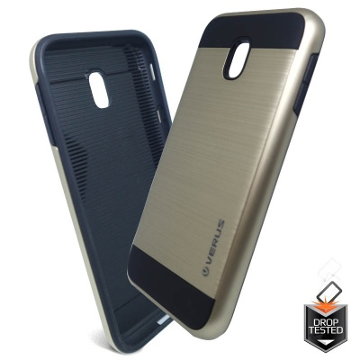Samsung Galaxy J3(2017) Shockproof Dual Layered Back Case Gold