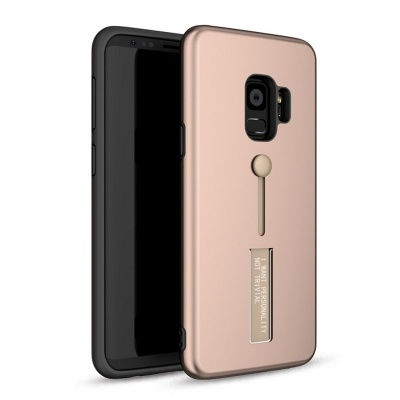 Samsung Galaxy J6 Plus (2018) Kickstand Shockproof Cover RoseGold