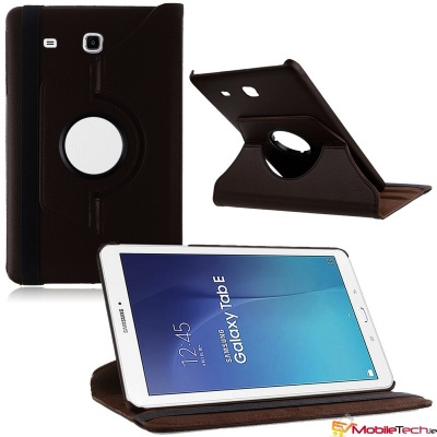 Samsung Galaxy Tab E T560 9.6'' Rotating Case Black