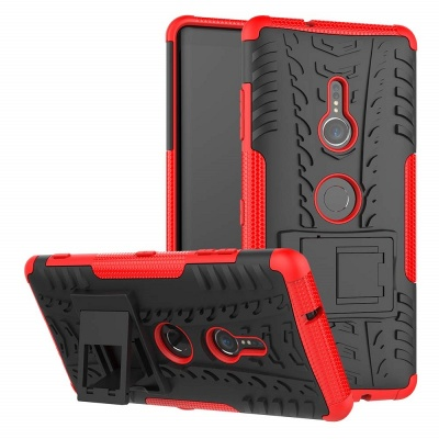 Sony Xperia XZ3 Tyre Defender Cover Red