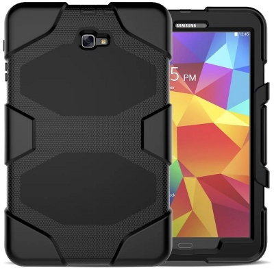 Samsung Galaxy Tab S5e SM-T720/SM-T725 - Heavy Duty Rugged  Shockproof Drop Protection Cover With Kickstand Black