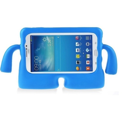 Samsung Tab A 10.5 (T590) Case for Kids Cover with Carry Handle Blue