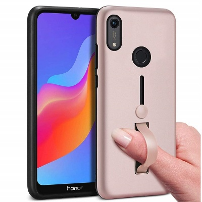 Huawei Y6 2019 Kickstand Shockproof Cover Rosegold