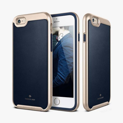 iPhone 6/6S Caseology  Envoy Series Case - Leather Navy Blue