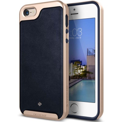 iPhone SE/5S/5 Envoy Series Case - Leather Navy Blue