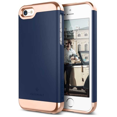 iPhone SE/5S/5 Savoy Series Case - Navy Blue