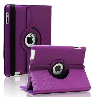iPad 2/3/4-360 Rotating Case Purple