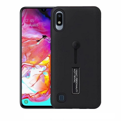 Samsung Galaxy A10 Kickstand Shockproof Cover Black